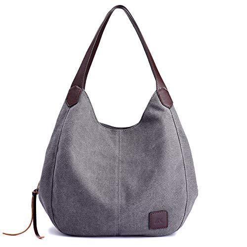 la bolsa moda bandolera cdnb bolsa de literaria lona bolsos de de gris Bolso hombro Bolsos varias casual capas simple de 8IIWf6q