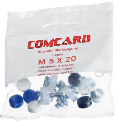Juego de tornillos de placa M 5 x 20 ComCard