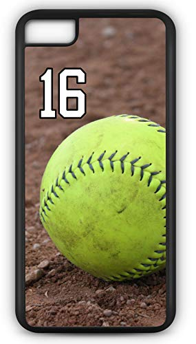 iPhone 6s Phone Case Softball S122Z by TYD Designs in Black Plastic Choose Your Own Or Player Jersey Number 16