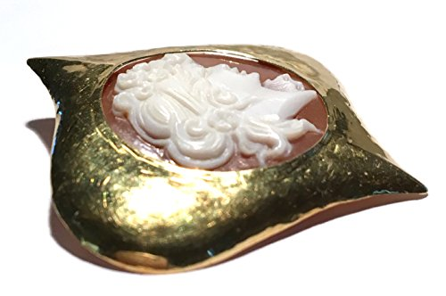 Cameo Brooch Eternal Love Sardonyx Shell Master Carved, Italian 18k Yellow Gold by cameos R us (Image #3)