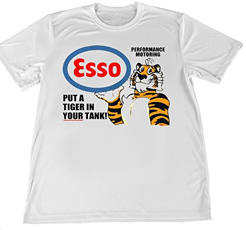 Tiger by The Tail Esso Wicking T-Shirt with Car Coaster (Medium) ()