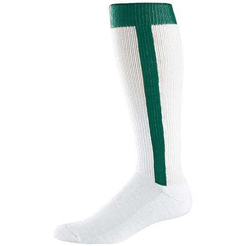 Augusta Intermediate Two-In-One Baseball Sock (Dk. Green, Medium (9-11)) by Augusta