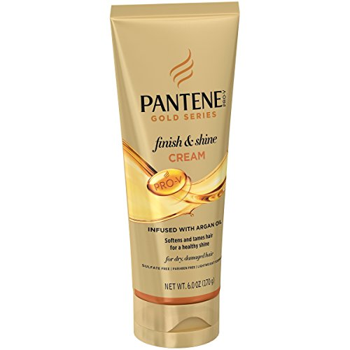 Pantene, Shine Cream Hair Treatment, with Argan Oil, Sulfate Free, Pro-V Gold Series, for Natural and Curly Textured Hair, 6 fl oz