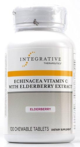 Terapéutica Integrativa Echinacea vitamina C con saúco, conteo de 100