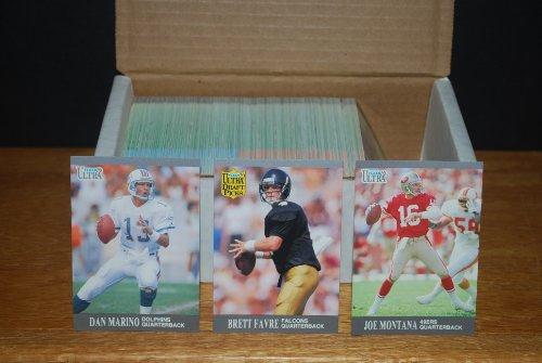 1991 Fleer Ultra Football Complete Set (300 Cards) Brett Favre Rookie