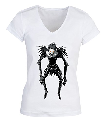 Scary Grey Monster Damen V-neck T-shirt