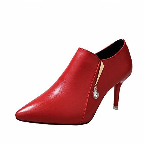 Zapatos Alto Puntiagudos Zapatos negro Tacón Zapatos Descalzos de Zapatos con Zapatos EUR37 Mujer de Mujer de qnxvwX7aU