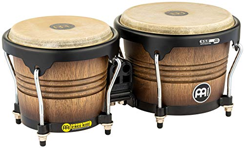 Meinl Percussion FWB190ATB-M Free Ride Series Wood Bongos, Antique Tobacco Burst Finish