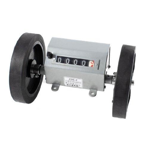 Rolling Wheel 6 Digit Meters Mechanical Length Counter Gray