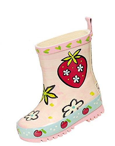 MaxiMo - Kinder Gummistiefel Regenstiefel Erdbeere rosa Unikat
