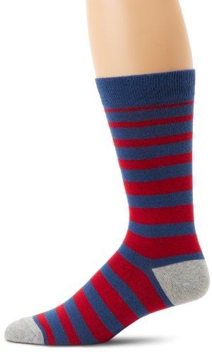 K. Bell Socks Men's Gradiant Stripe, Navy, - Blue Gradiant