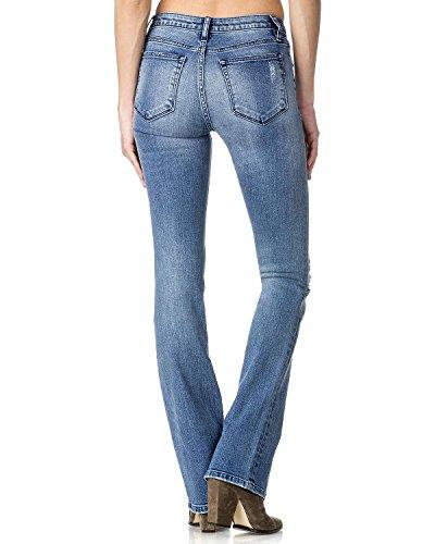 Miss Me Women's Indigo Destructed Jeans Boot Cut Indigo 25 Destructed Bootcut Jeans