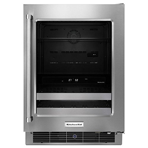 Refrigerator Commercial Kitchenaid - KitchenAid KUBR304ESS 24 Inch Stainless Steel Beverage Center