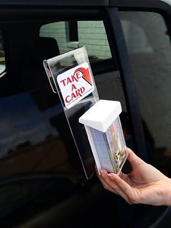 Amazon marketing holders window hook advert vertical outdoor marketing holders window hook advert vertical outdoor business card holder reheart Image collections