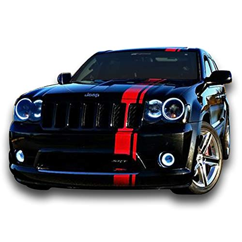 (Bubbles Designs Decal Sticker Graphic Front to Back Stripe Kit Compatible with Jeep Grand Cherokee WK)