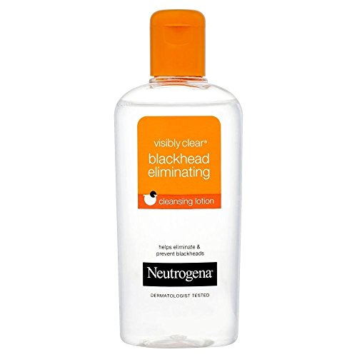 Neutrogena Visibly Clear Blackhead Eliminating Cleansing Lotion (200ml) - Pack of 2