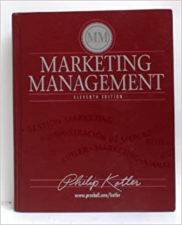 Marketing Management 11th Edition Philip Kotler Amazon Com Books