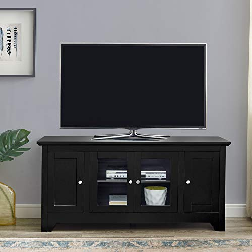 Walker Edison Furniture Company Transitional Wood TV Stand with Storage Cabinets for TV's up to 56