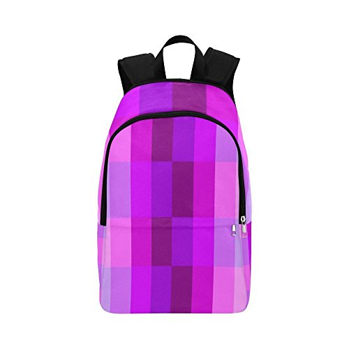 YUMOING Monochrome Color Hues Shades Pale Pink Purple Casual Daypack Travel Bag College School Backpack For Mens And Women