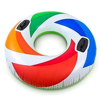 Intex Flotador 119 cm de diámetro Con dos agarraderas: Amazon.es: Juguetes y juegos