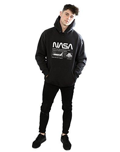 Capuche Absolute Nasa Homme Space Noir À Cult Classic Sweat Shuttle 88Ppq