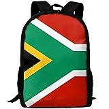 Travel Backpack Laptop Backpack Large Diaper Bag - Flag Of South Africa Red Backpack School Backpack For Women Men