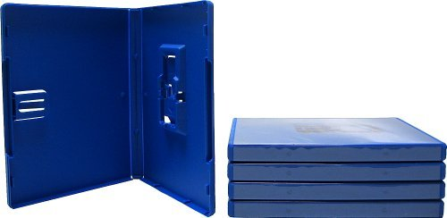 5) Empty Standard BLUE 10MM Replacement Boxes / Cases with