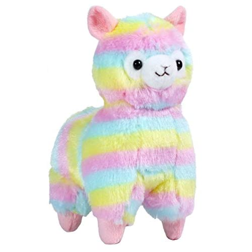 Hot Amuse Rainbow 7.87 Inches Stuffed Llama Plush Doll Toy for cheap