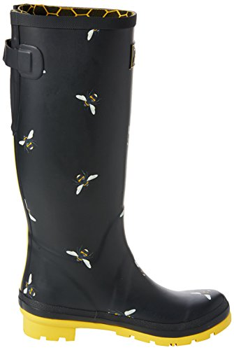 Welly French Print Femme Pluie de Bottes Dogs in Navy Leaves Joules dBRCwqd