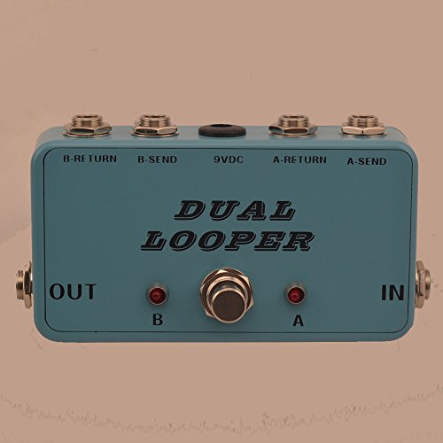 - TTONE New True-Bypass Looper Effect Pedal Guitar Effect Pedal Looper Switcher true bypass guitar pedal Light green dual Loop switch