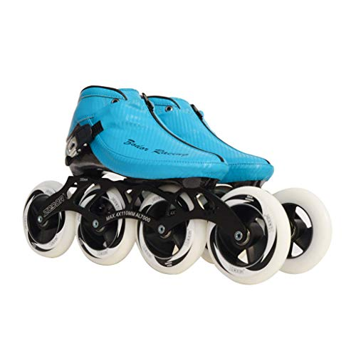 ギャンブル賃金ポンペイailj スピードスケートシューズ90MM-110MM調整可能なインラインスケート、ストレートスケートシューズ(3色) (色 : イエロー いえろ゜, サイズ さいず : EU 34/US 3/UK 2/JP 22cm)