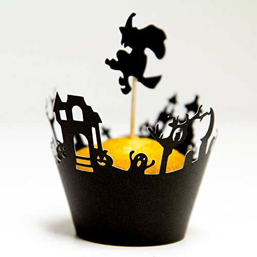 Halloween Cupcake Wrappers / Toppers Haunted Graveyard (12)]()