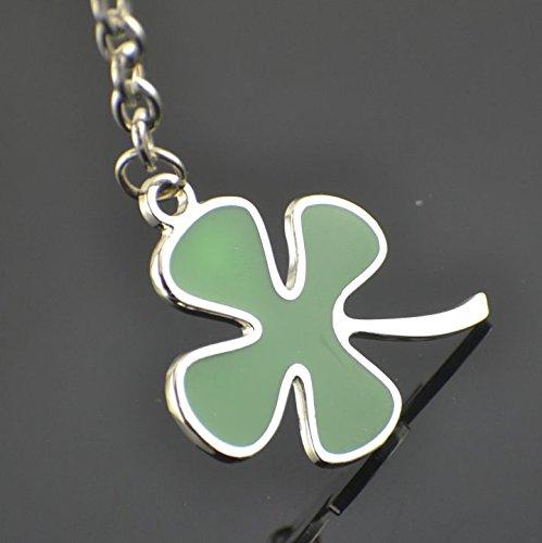 Libaraba Creative Four Leaf Clover Titanium Steel Keychain Lucky Gift Key ()