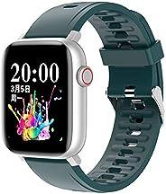 SmartWatch Relógio Inteligente com Monitor Cardíaco, Monitor de Sono e Pressão Sanguínea para iOS e Android