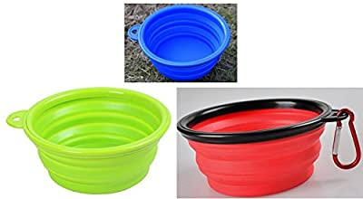 Roysili Collapsible Dog Bowl, FDA Approved BPA Free Silicone Travel Bowl for Dog Cat Food & Water, Silicone Dog Bowl Free Carabiner by Deumei silicone and plastic products Co.,ltd