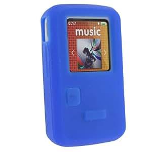 igadgitz Silicona Funda Cover Carcasa para Sandisk Sansa Clip Zip 4gb 8gb, color azul
