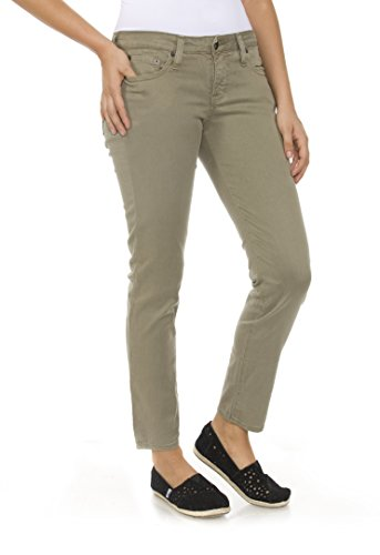 Womens Big Star (Big Star Women's Remy Cropped Jeans in Soft Olive Wash)