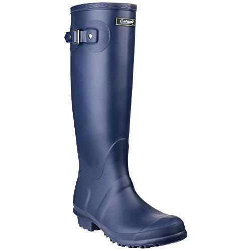 Cotswold Sandringham Buckle-Up Womens Wellington Boots (8 UK) (Navy)