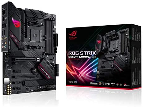 ASUS ROG Strix B550-F Gaming (WiFi 6) AMD AM4 Zen 3 Ryzen 5000 & third Gen Ryzen ATX Gaming Motherboard (PCIe 4.0, 2.5Gb LAN, BIOS Flashback, HDMI 2.1, Addressable Gen 2 RGB Header and Aura Sync)