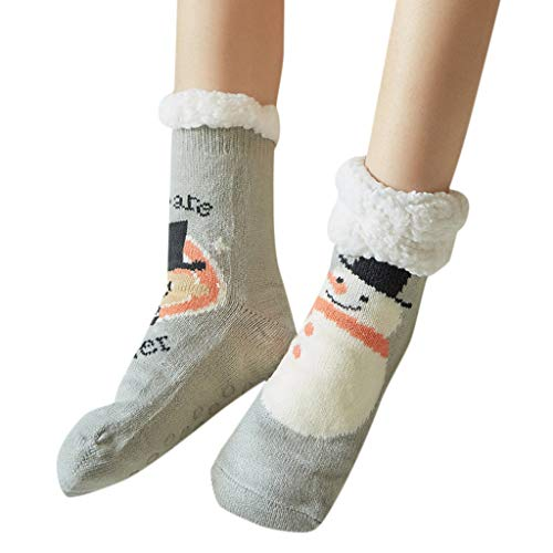 Girls Socks Pgojuni Women Cartoon Print Warm Winter Mid Tube Cute Socks -