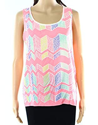 Miss Chievous Medium Junior Printed Pull-Over Tank Top Pink M