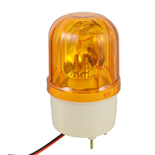 Baomain Warning Light LTE-1101 DC 24V 10W Yellow Rotating Light Halogen Bulb Mechanical Signal Lamp supplier