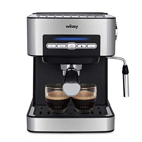 Wëasy KFX32 Maquina de Café Espresso Programable, 850 W, 15 Tazas, Depósito de 1.6 Litros, Presión Bomba 20 bares, Brazo…