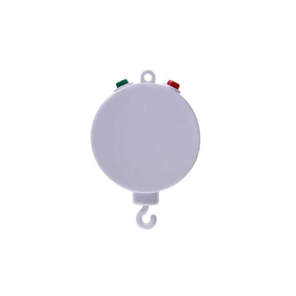 Lit b/éb/é Mobile Music Box Jouets Portable de Musique Mobile Joue 35 Tunes Support USB de Charge Blanc