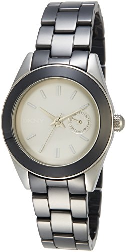 Dkny Women's Nolita NY2143 Black Ceramic Analog Quartz Watch with Grey Dial