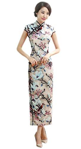 - YueLian Women's Long Chinese Style Wedding Dress Qipao Cheongsam Party Dress (China XL= US 8-10, 15)
