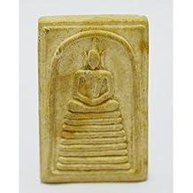 AUTHENTIC AMULETS Pra Somdej BUDDHA LIFE PROTCTION THAI AMULETS Pra Somdej Back Lp.Derm Wat Houa Tanon Nua Temple Nakonsawaan Province,Thailand