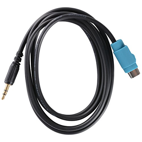 XCSOURCE 3.5mm AUX Input Cable Adapter ALPINE CDE 9872 9881 CDA 9852 9884 9886 9887 (Alpine Adapter Cable)