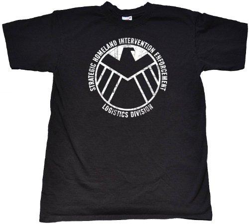 "Teamzad Boy's SHIELD Black T Shirt Medium 7 - 8 years (32"" Chest) Black"