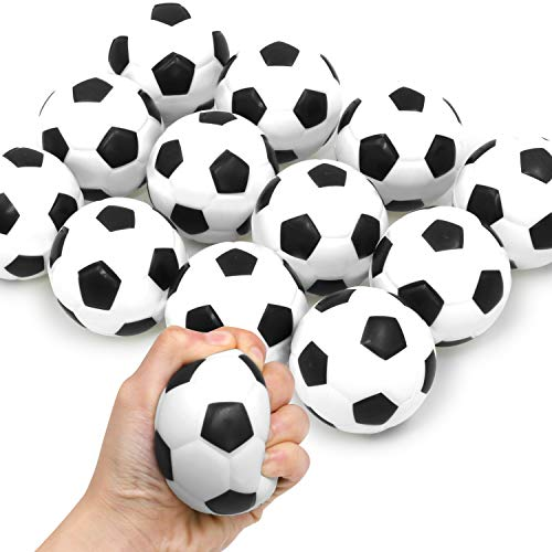 Novelty Place Squeezable Stress Soccers(12 Pack) - Excellent Anti-Stress Balls for Tension Relief - Relaxation Gadgets, Fidget Toys, Party Favors, Ball Games, Carnival Prizes(Diameter 2.8